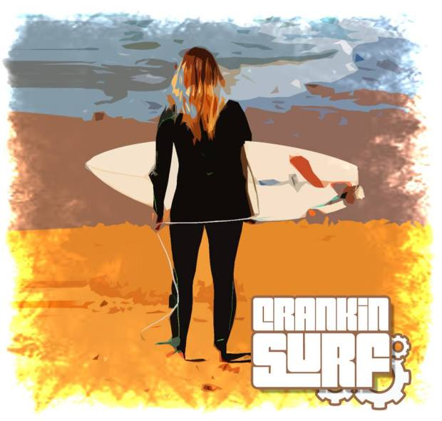 The new Crankin Surf Logo
